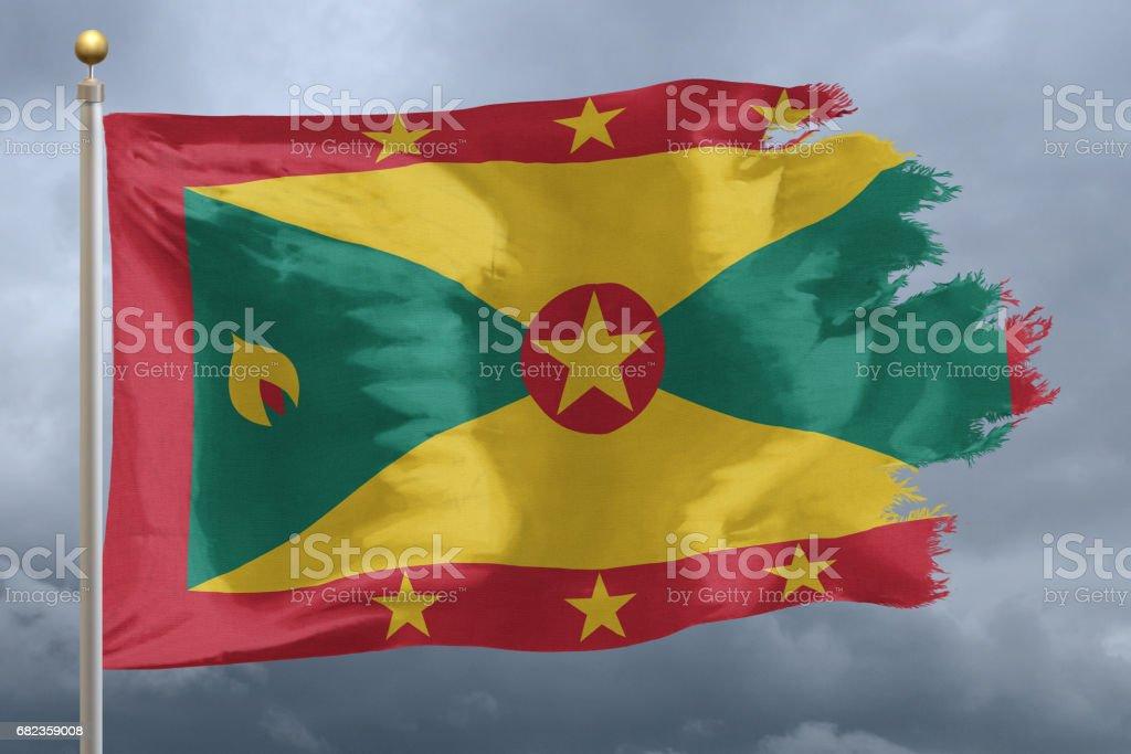 Flag of Grenada royaltyfri bildbanksbilder