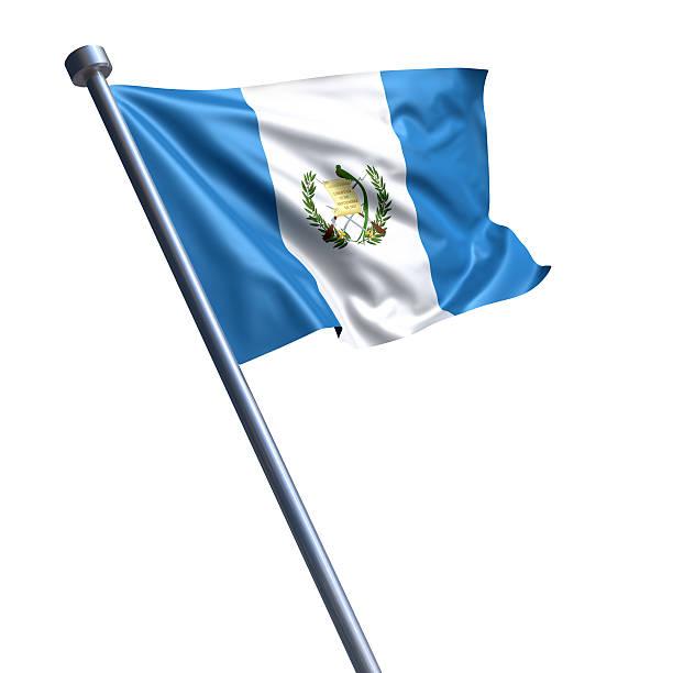 Bandera de Guatemala Aislado en blanco - foto de stock