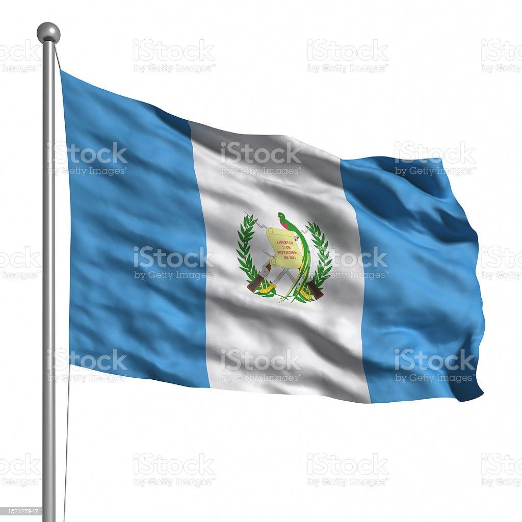Bandera de Guatemala (aislado - foto de stock
