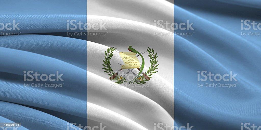 Flag of Guatemala stock photo