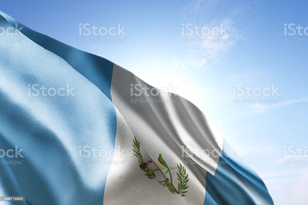 Flag of Guatemala waving in the wind - foto de stock
