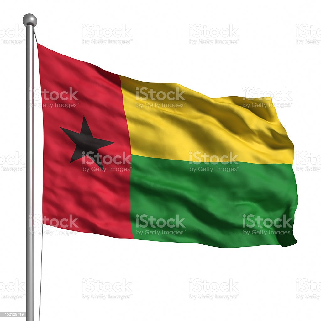 Flag of Guinea-Bissau (Isolated) stock photo