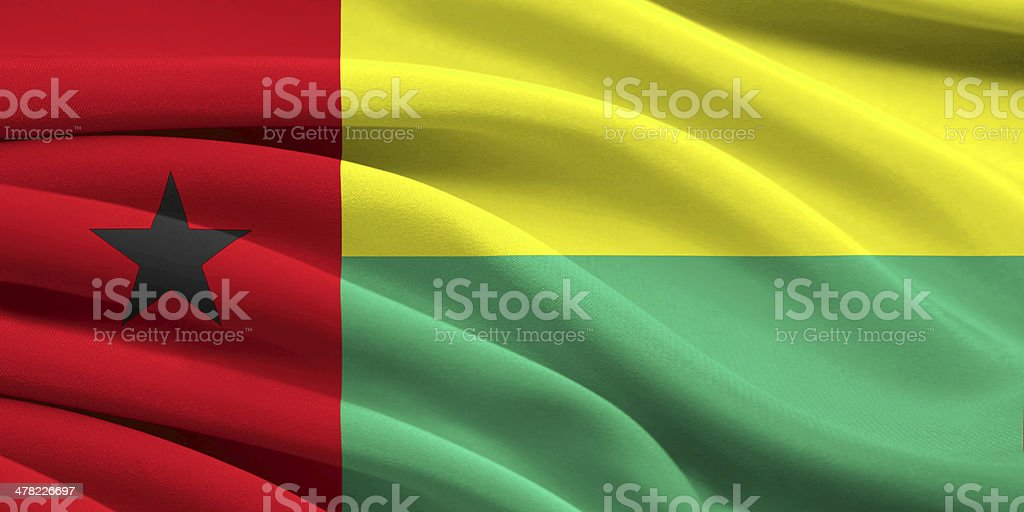 Flag of Guinea-Bissau stock photo