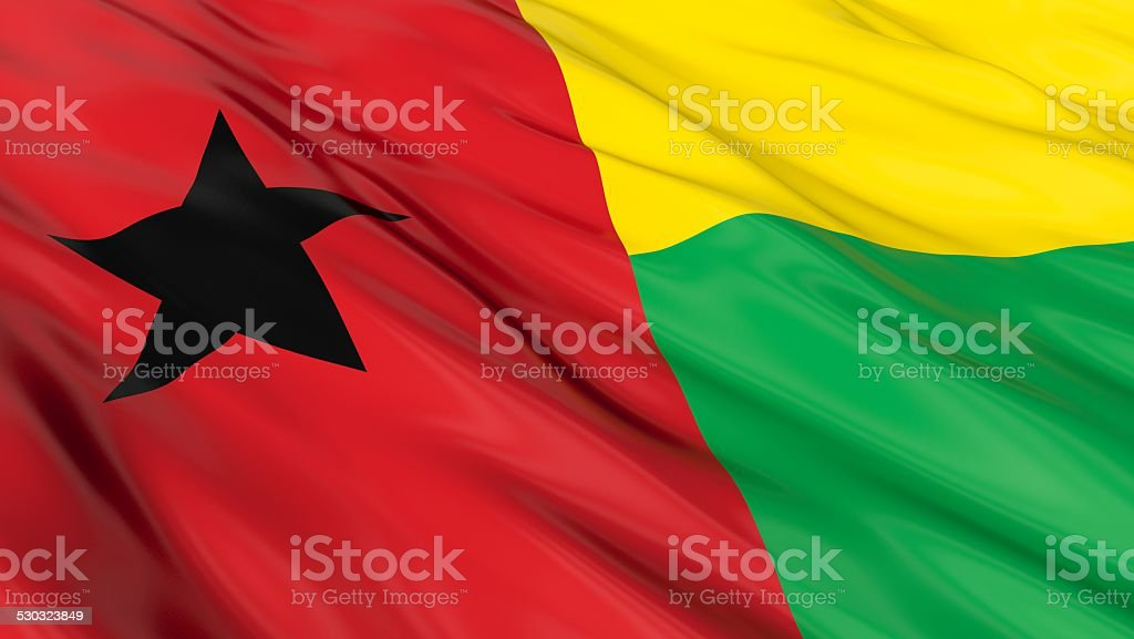 Flag of Guinea-bissau. stock photo
