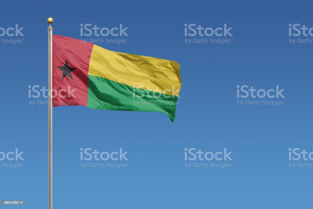 Flag of Guinea-Bissau royalty-free stock photo