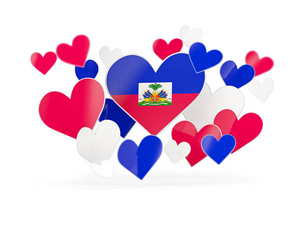 Royalty Free Haitian Symbols In Heart Shape Concept Pictures Images