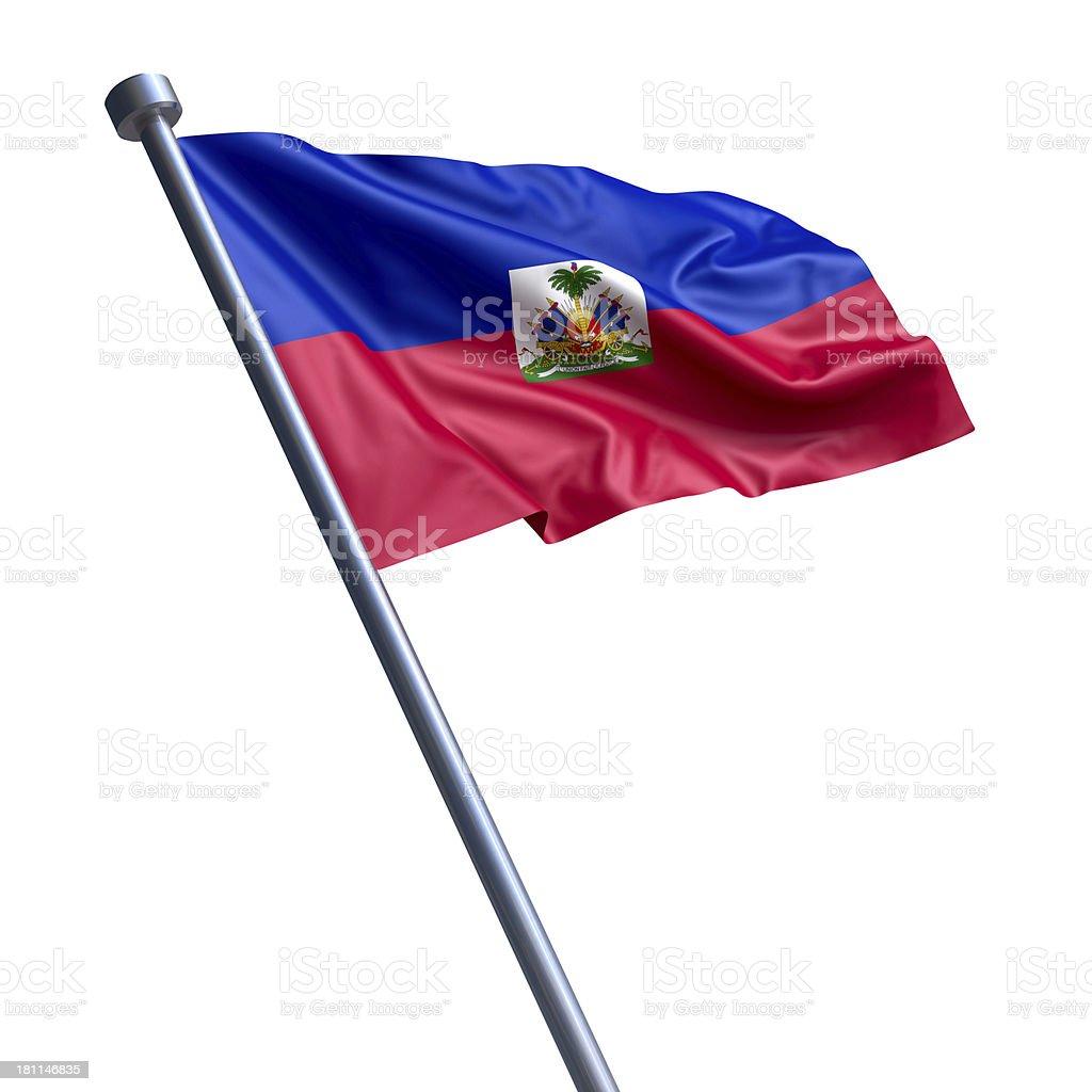 Flag of Haiti isolated on white stock photo