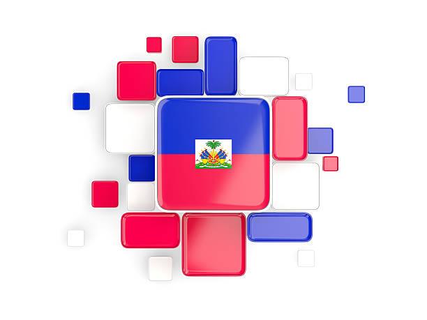 Flag of haiti, mosaic background Flag of haiti, mosaic background with square parts. 3D illustration Haiti Flag stock pictures, royalty-free photos & images