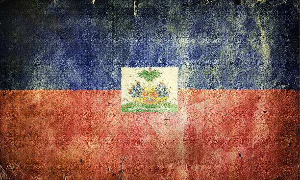 Flag of Haiti Flag of Haiti. Old vintage paper texture. Haiti Flag stock pictures, royalty-free photos & images