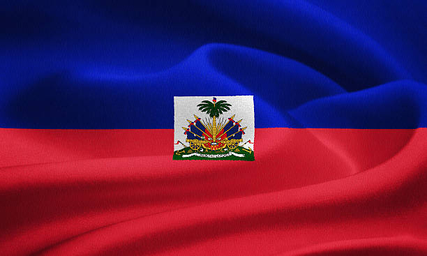 Flag of Haiti Flag of Haiti waving in the wind. Silk texture pattern Haiti Flag stock pictures, royalty-free photos & images