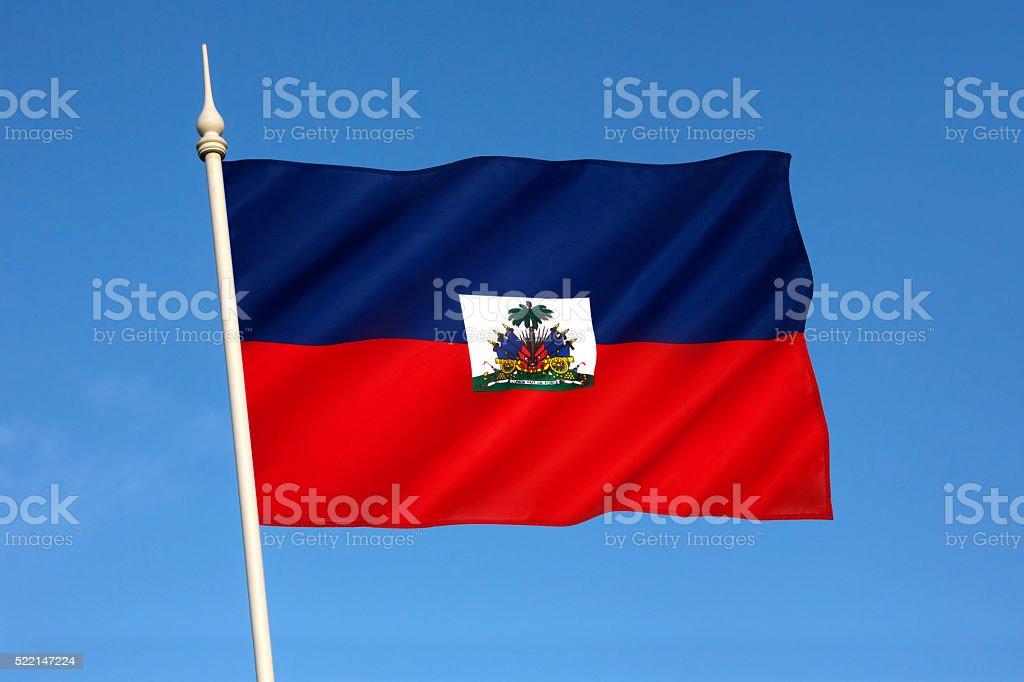 Flag of Haiti stock photo