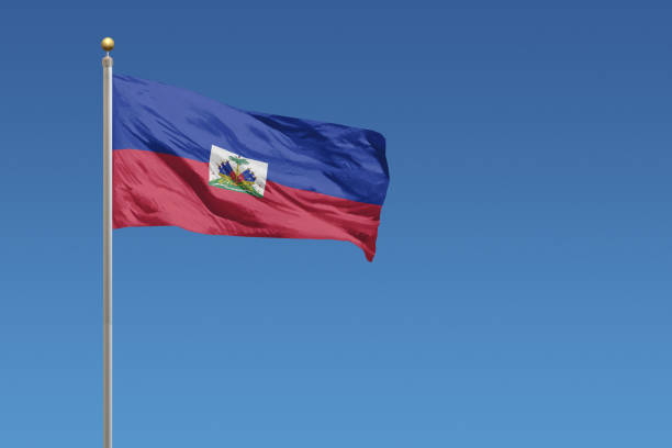 Flag of Haiti Flag of Haiti in front of a clear blue sky Haiti Flag stock pictures, royalty-free photos & images