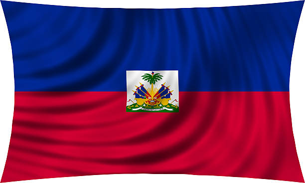 Flag of Haiti waving isolated on white Haitian national official flag. Patriotic symbol, banner, element, background. Correct colors. Flag of Haiti waving, isolated on white, 3d illustration Haiti Flag stock pictures, royalty-free photos & images