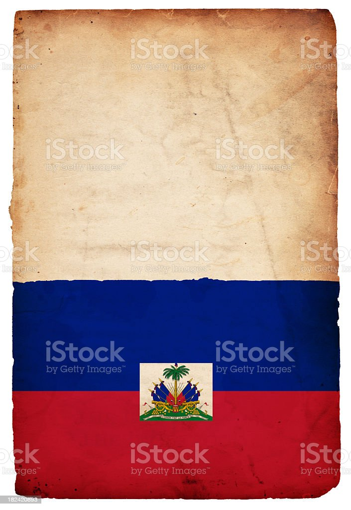 Flag of Haiti - XXXL stock photo