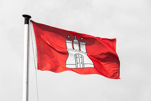 Flag of Hamburg, Germany