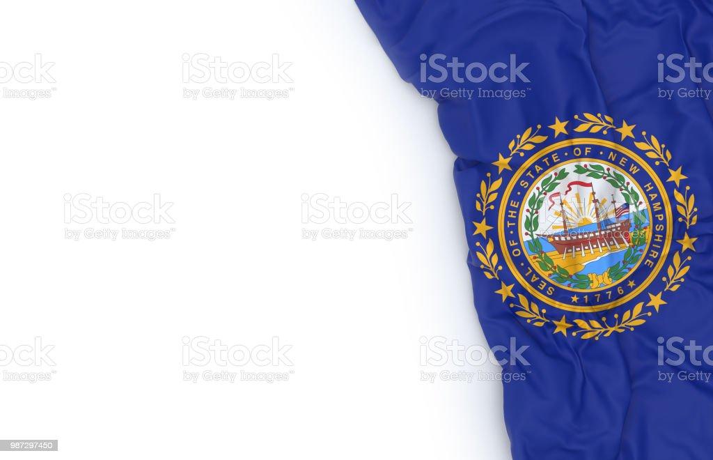 Bandeira do estado de Hampshire - foto de acervo