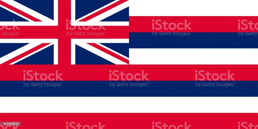 Bandeira dos E.U. do Havaí - foto de acervo
