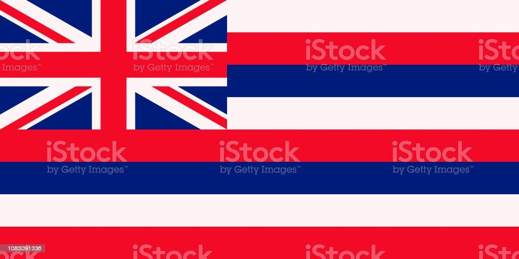 Bandeira da bandeira do estado americano de Havaí - foto de acervo