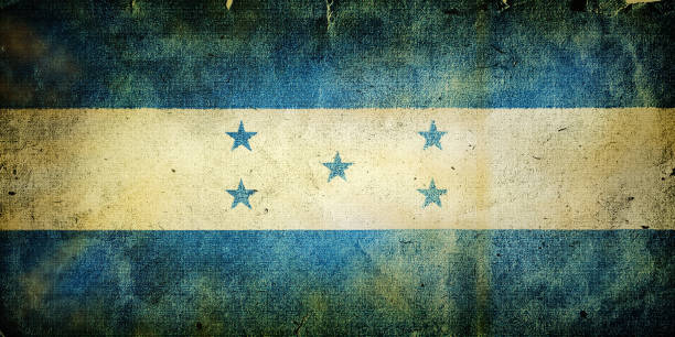 flag of  Honduras flag of  Honduras. Old vintage paper texture. honduras stock pictures, royalty-free photos & images