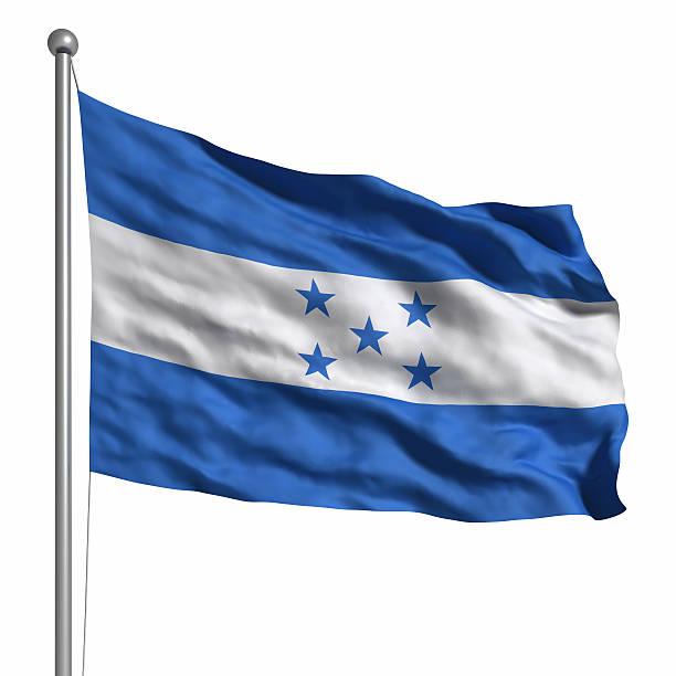 bandera de honduras (aislado - bandera de honduras fotografías e imágenes de stock
