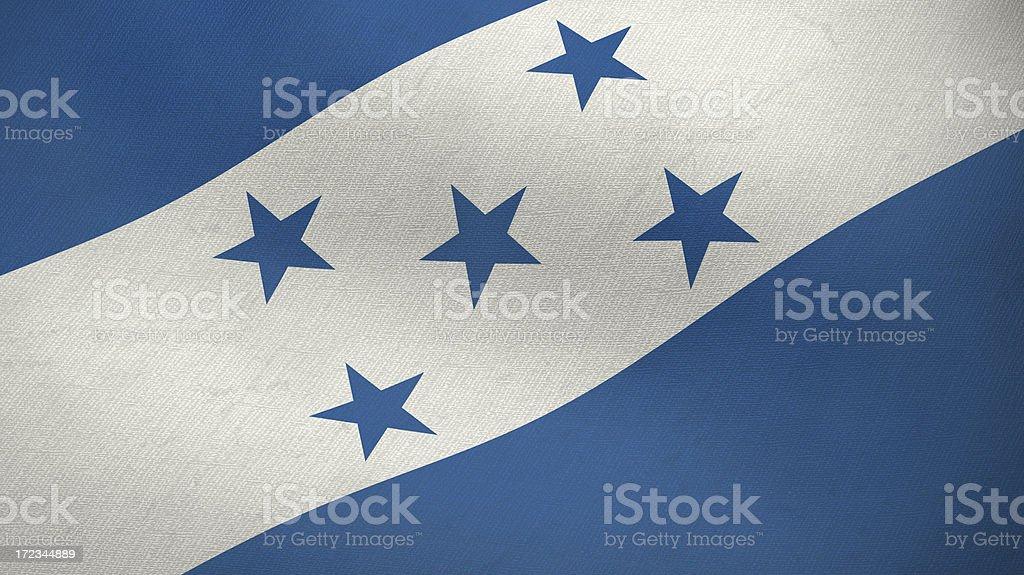 3D flag of Honduras royalty-free stock photo