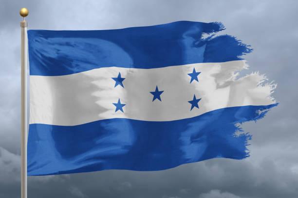 bandera de honduras - bandera de honduras fotografías e imágenes de stock