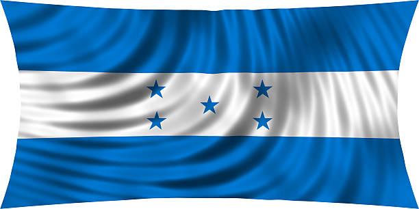 flag of honduras waving isolated on white - bandera de honduras fotografías e imágenes de stock
