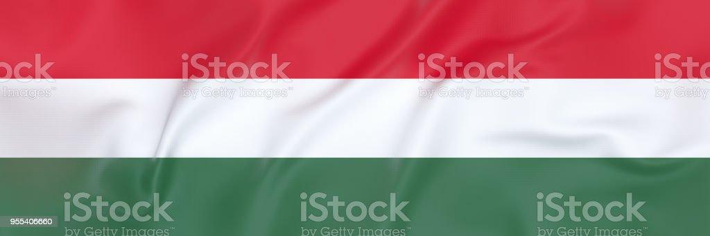 Flag of Hungary - Zbiór zdjęć royalty-free (Baner)