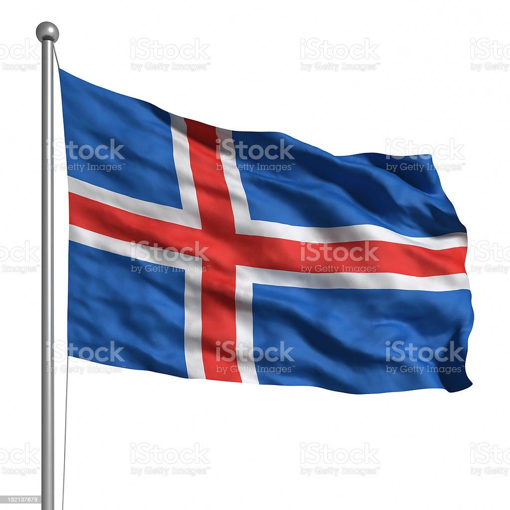 Bandeira da Islândia (isolado - foto de acervo