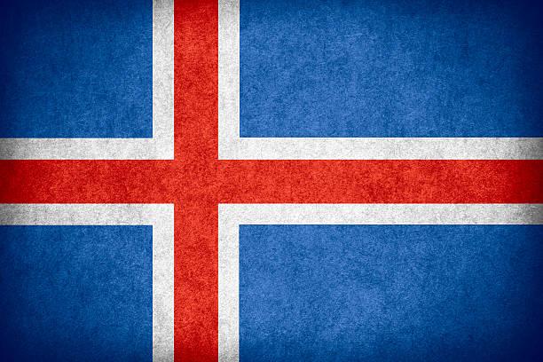 Bandeira da Islândia - foto de acervo