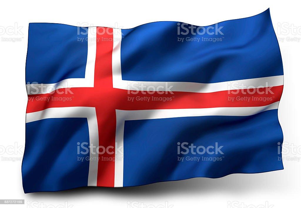 Bandera de Islandia - foto de stock
