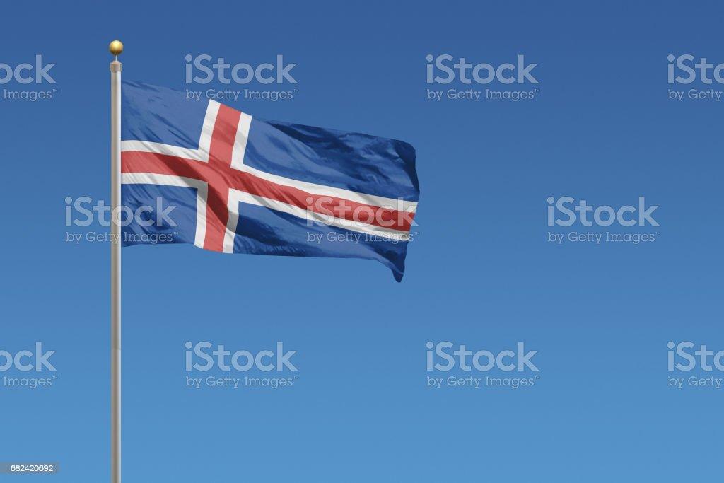 Flag of Iceland - foto de acervo