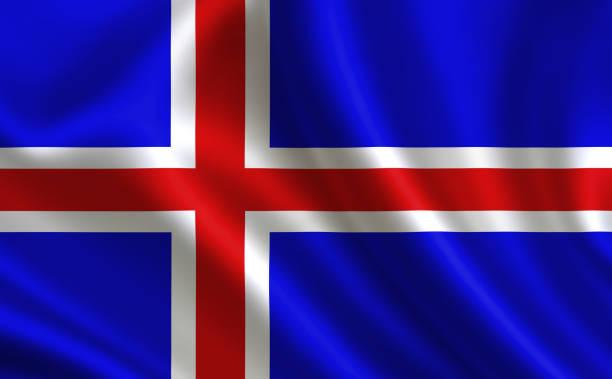 Bandeira da Islândia. - foto de acervo