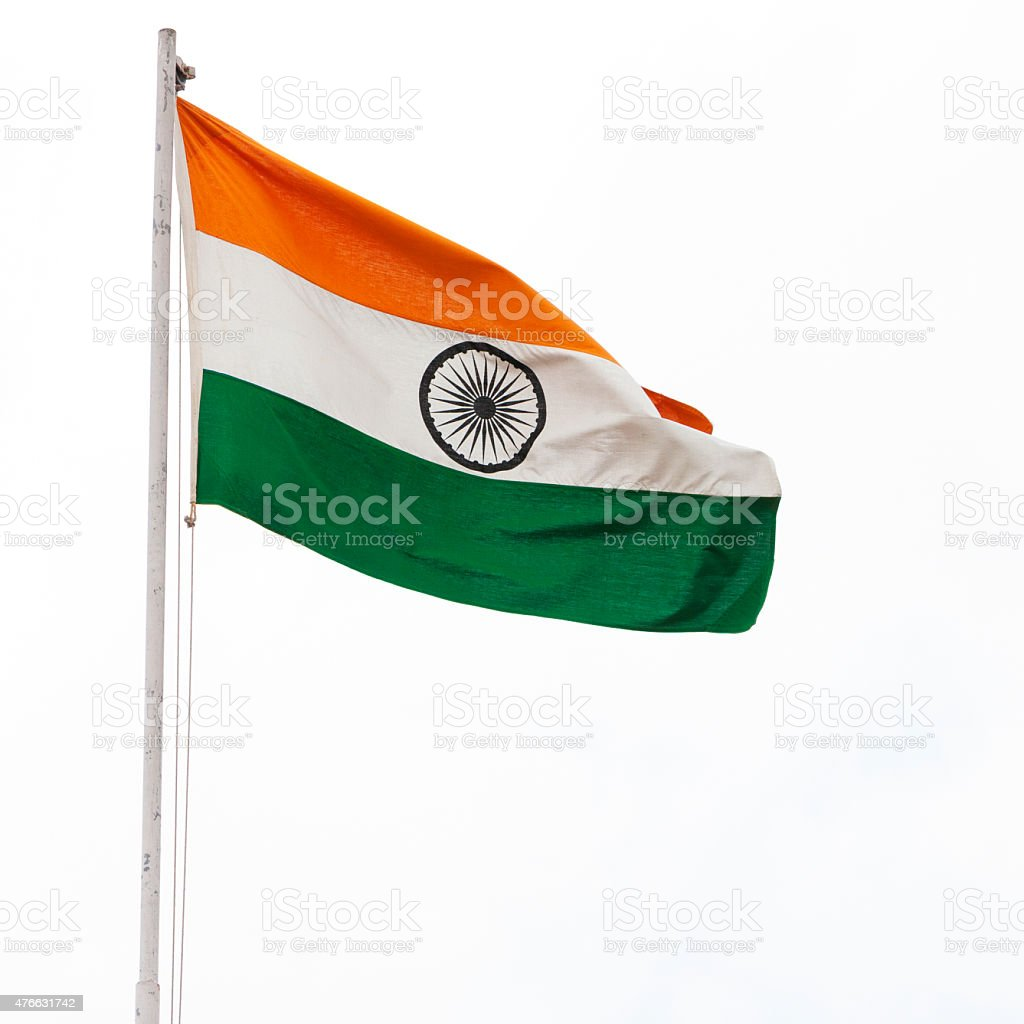 Flag of India Blowing in the Wind stock photo