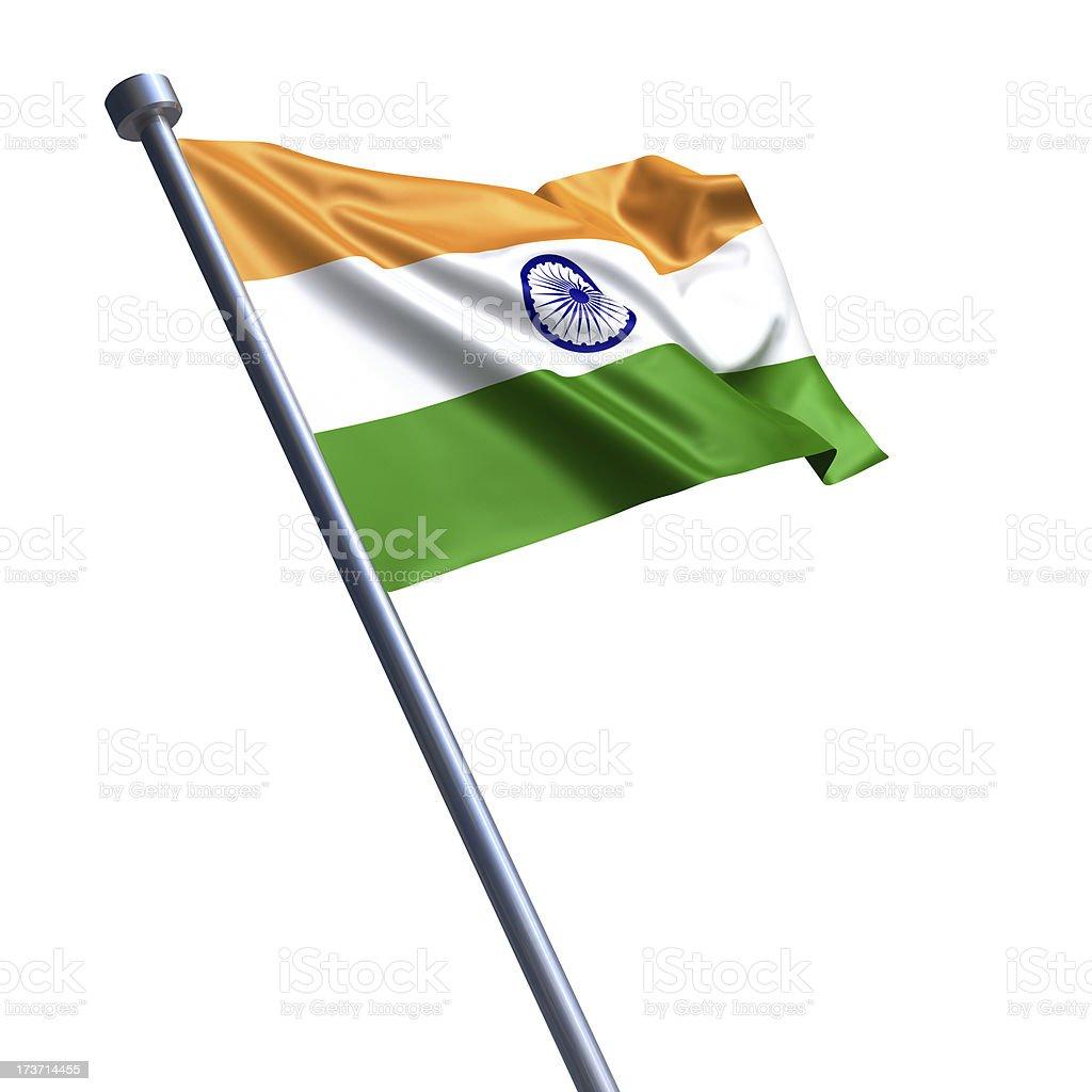 Flag of India isolated on white royalty-free stock photo