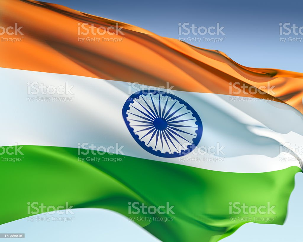 Bandeira da Índia - foto de acervo