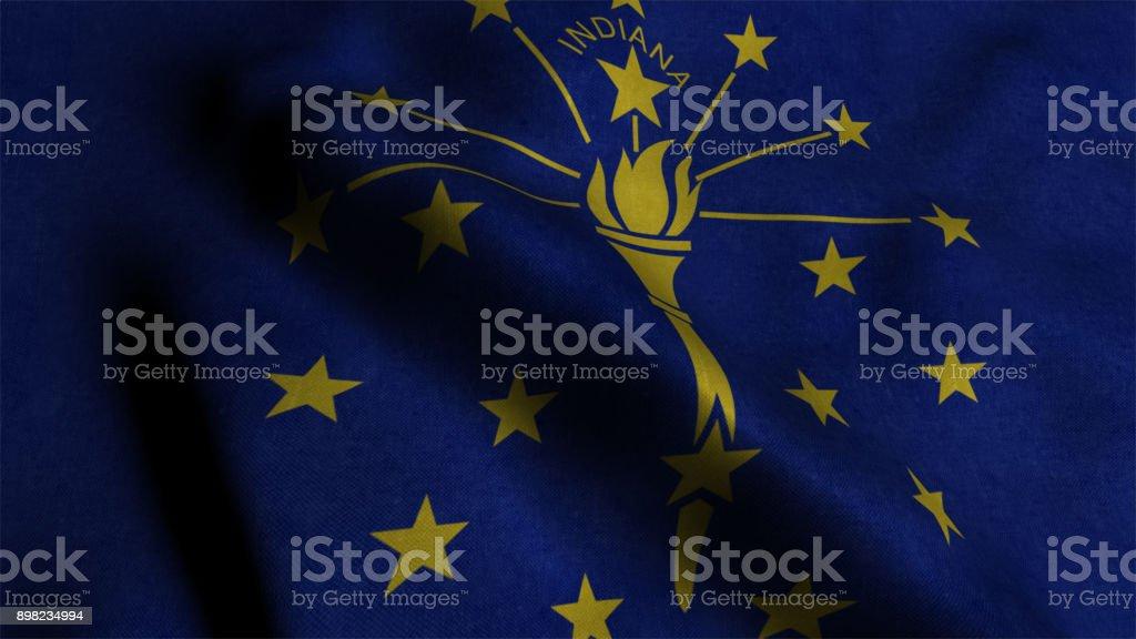 Flag of Indiana stock photo