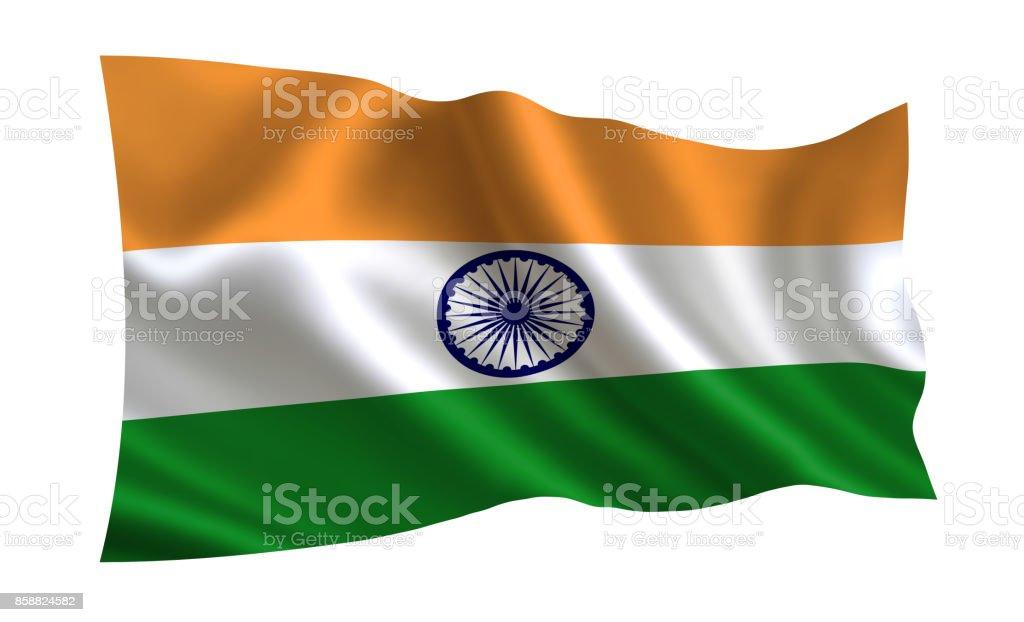 Bandeira da India.Part da série. - foto de acervo