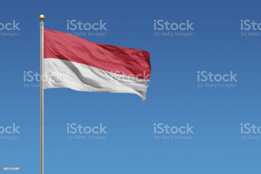 Flag of Indonesia royalty-free stock photo