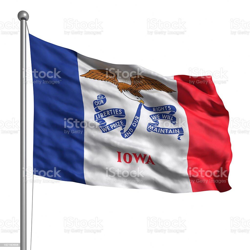 Flag of Iowa (isolated) royalty-free stock photo