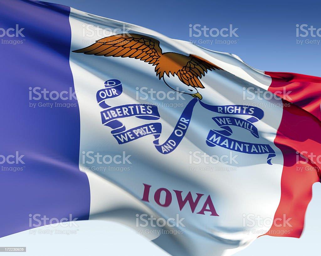Flag of Iowa stock photo