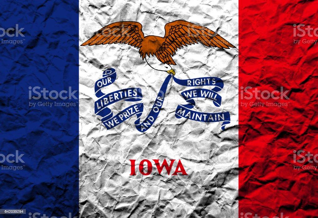 US flag of Iowa stock photo