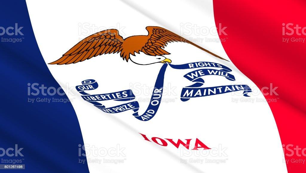 Flag of Iowa state stock photo