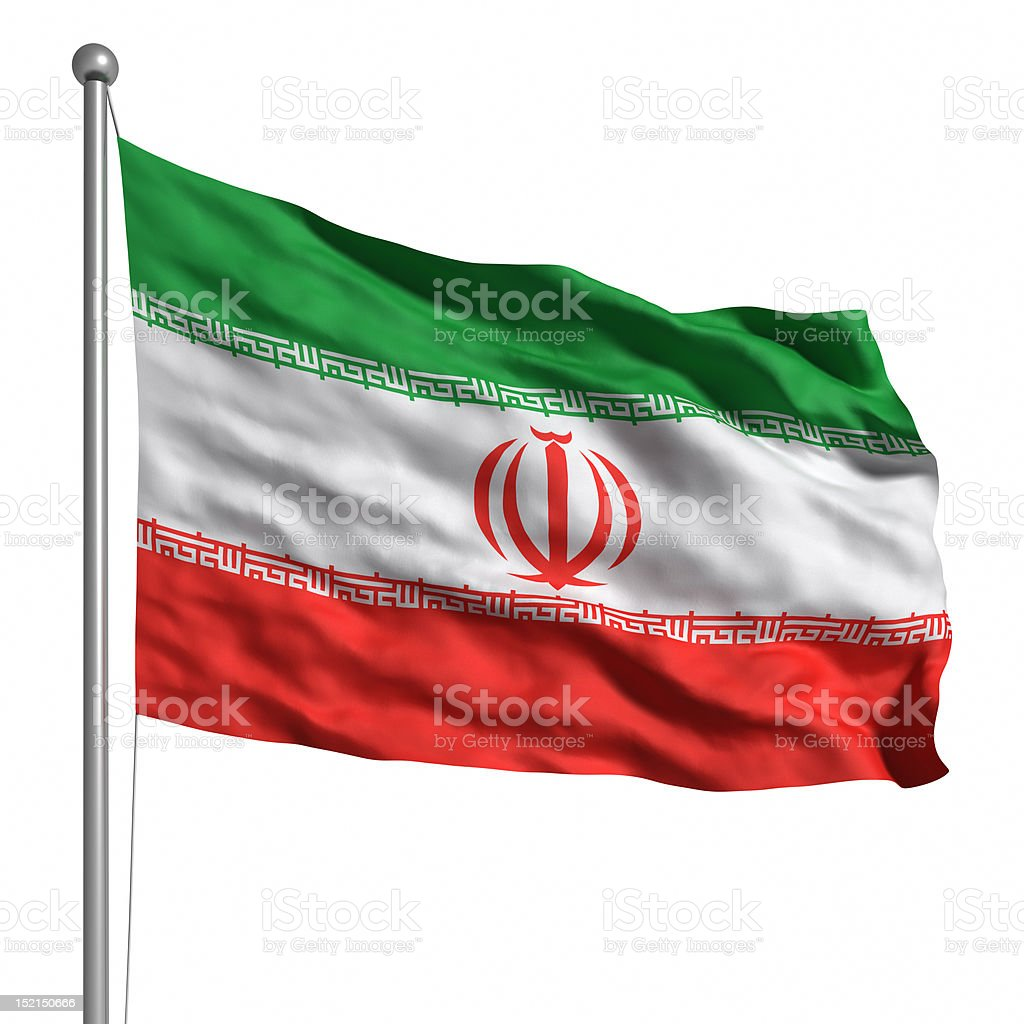 Flag of Iran (Isolated) stock photo