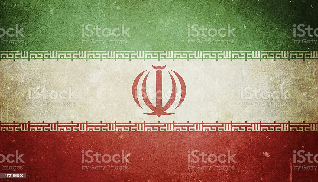 Flag of Iran stock photo