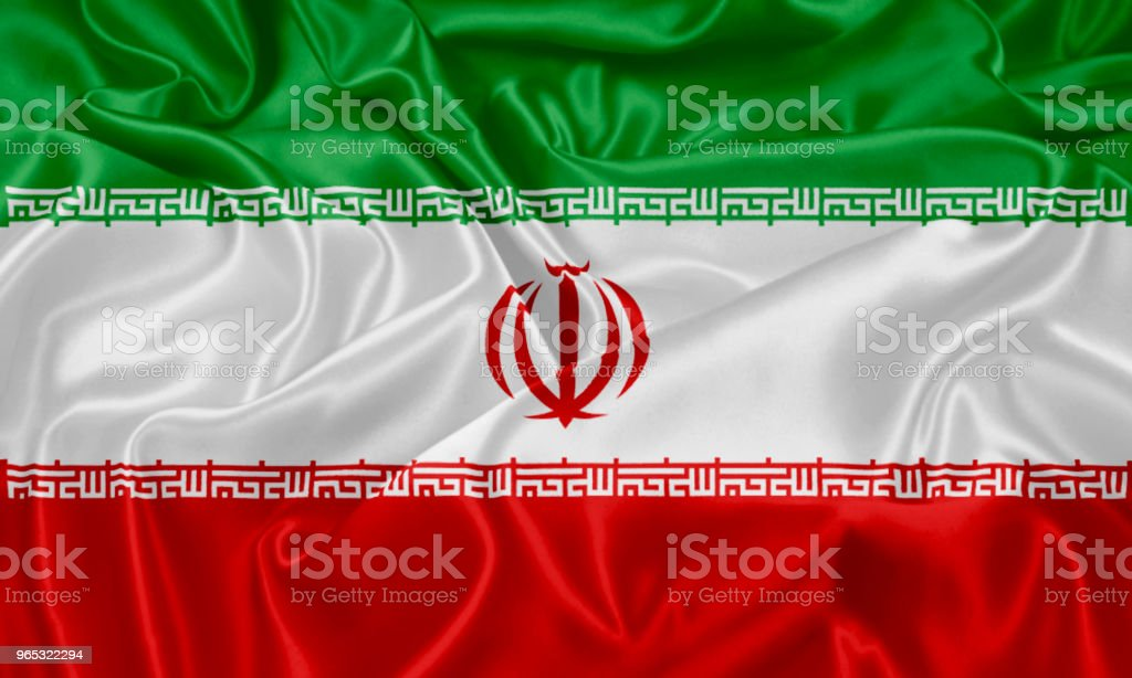 Flag of Iran royalty-free stock photo