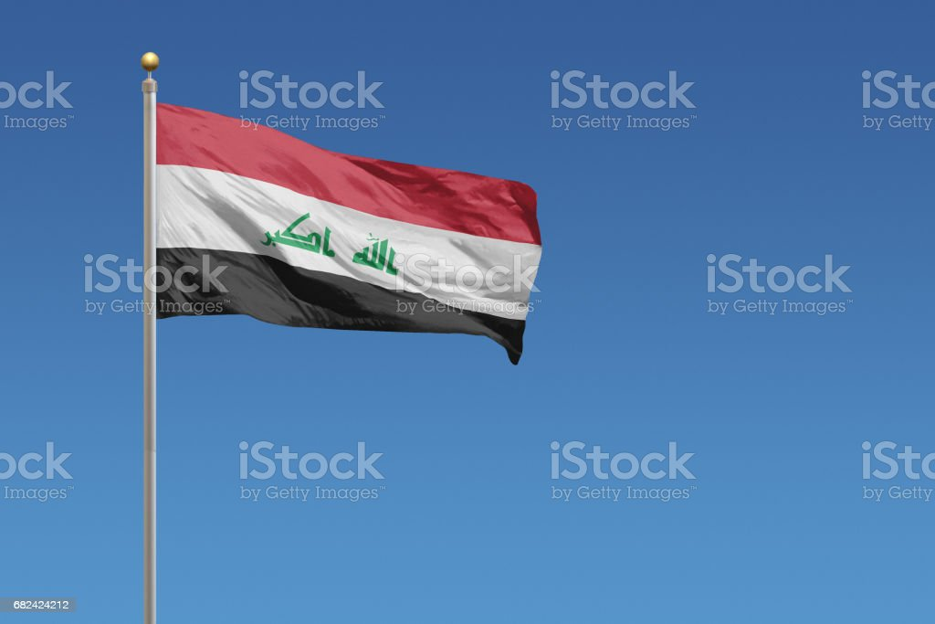 Flag of Iraq royalty-free stock photo