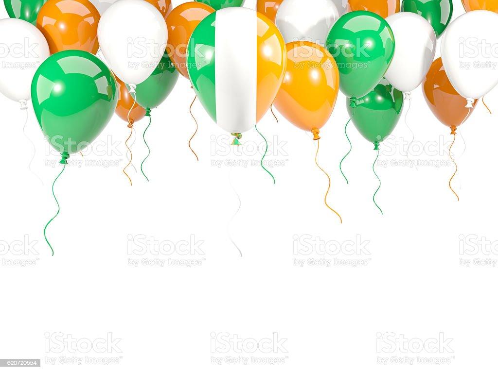 Flag of ireland on balloons stock photo