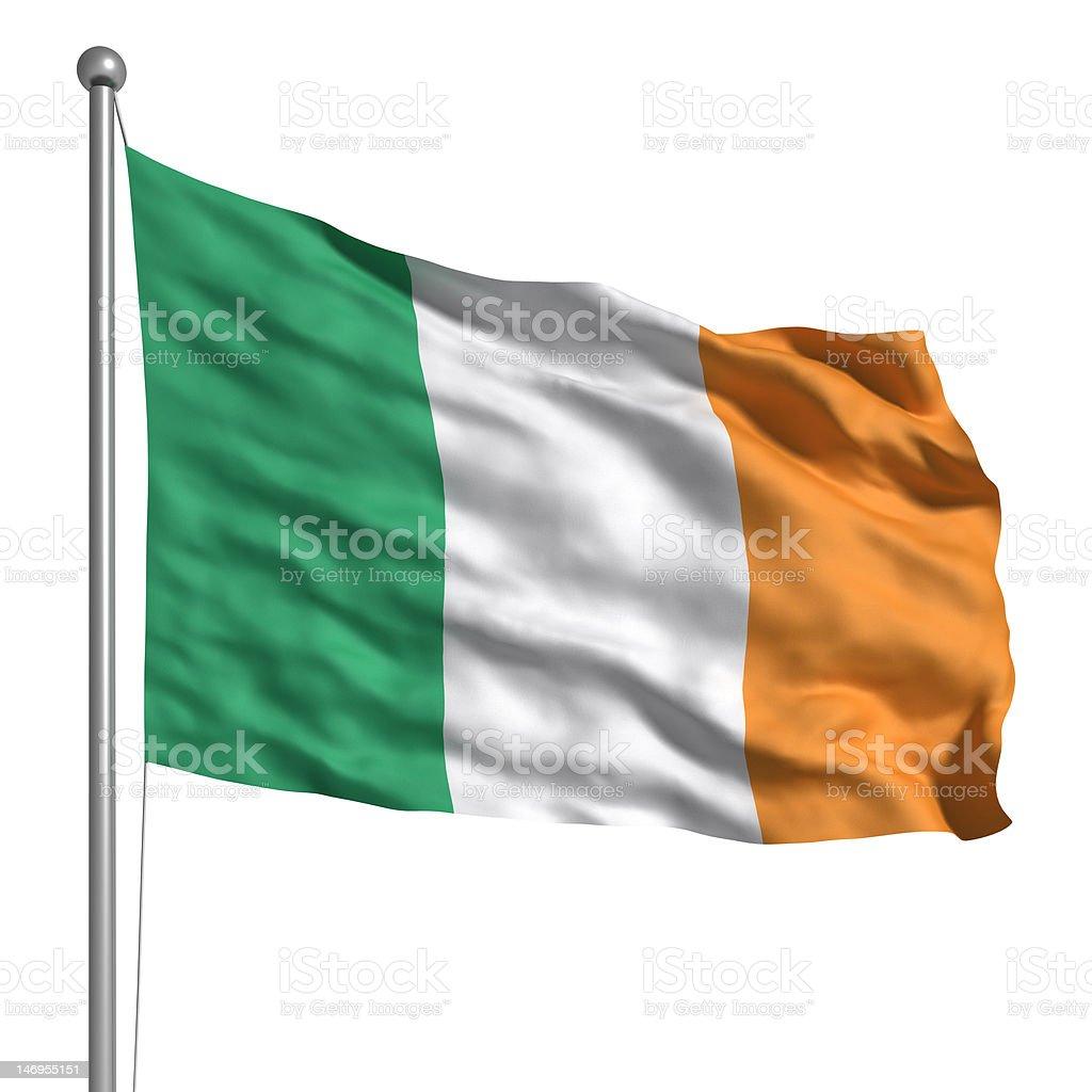 Flag of Ireland (Isolated) stock photo