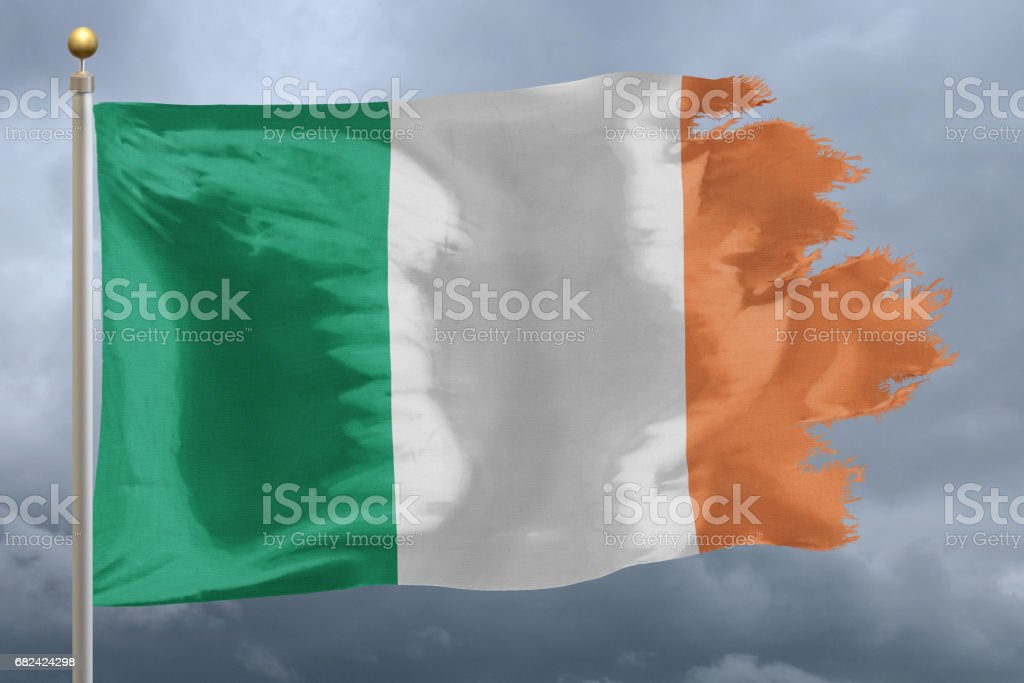 Flag of Ireland royalty-free stock photo